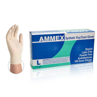 AMMEX Stretch Synthetic Vinyl PF Exam Gloves