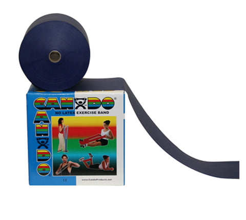 CanDo® Latex Free Exercise Band - 50 yard roll - Blue - heavy