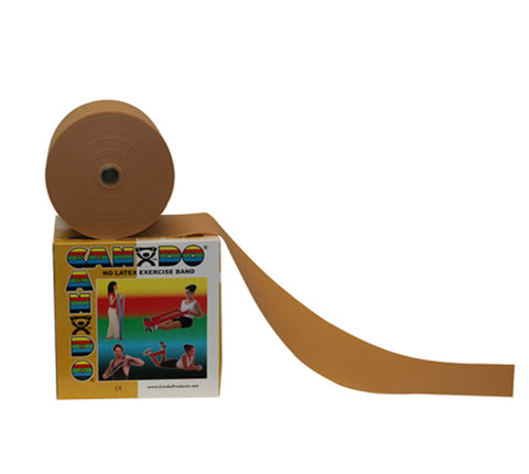 CanDo® Latex Free Exercise Band - 50 yard roll - Gold - xxx-heavy