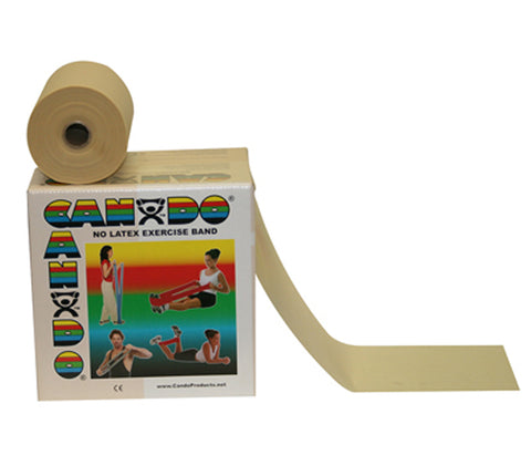 CanDo® Latex Free Exercise Band - 50 yard roll - Tan - xx-light