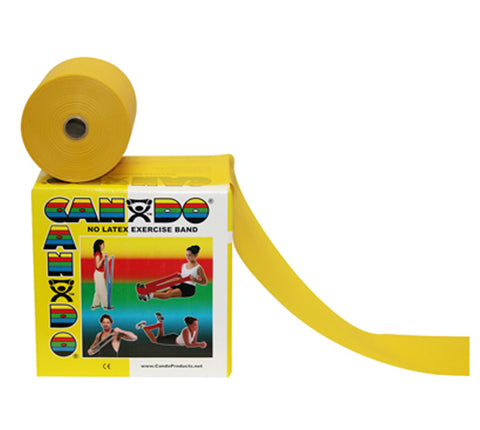 CanDo® Latex Free Exercise Band - 50 yard roll - Yellow - x-light