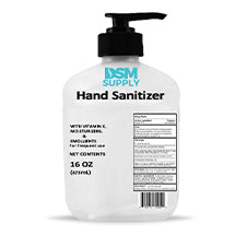 DSM Supply® Hand Sanitizer Alcohol Gel Pump Bottle 16 oz. (8/Pack)