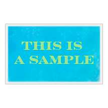 "Personalized Reusable 6"" x 10"" Cloth-Backed Gel Pack"