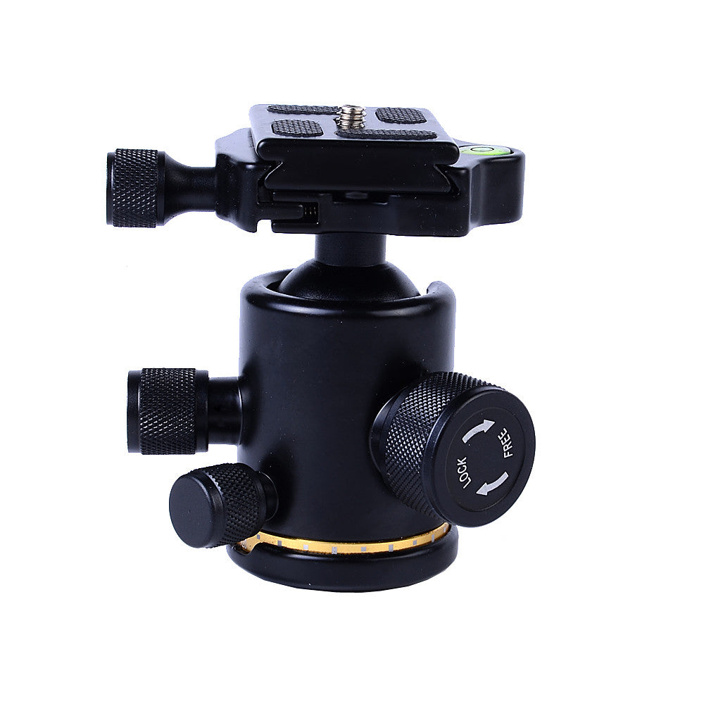 Professional Aluminum Ball Head Ballhead with Quick Release Plate Stabilizer