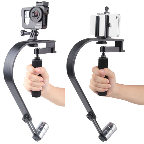 ALLOYSEED Aluminium Alloy Camera Stabilizer Mobile Phone Stabilizer For Gopro Camera Steadicam for DV iPhone