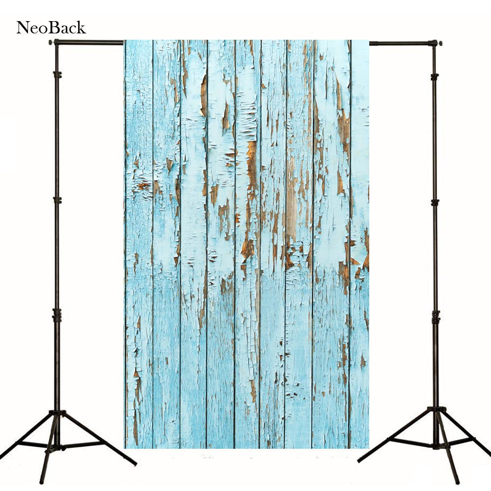 2017 spring 3x5ft 5x7ft blue tone Photography Background Wood Floor Vinyl Digital Printing Cloth p1044