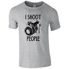 I Shoot People T-Shirt - Funny Photography Camera Pic Photographer Gift Mens Top Print T Shirt