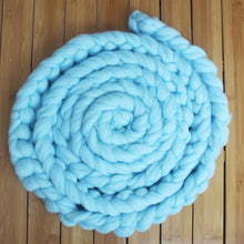 Newborn Photography Props Baby Photo Blanket 6 Colors 4M Long Basket