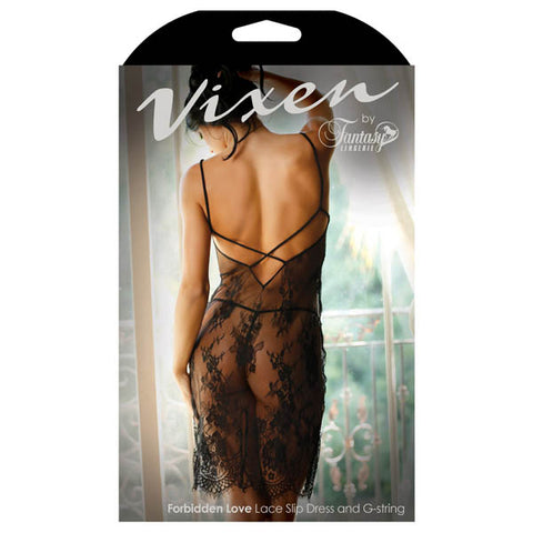 Vixen Forbidden Love  Lace Slip Dress & G-String