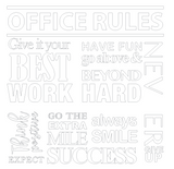 """Office Rules"" Wallsticker"