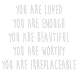 """You are..."" Wallsticker"