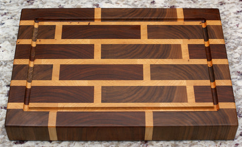 brick pattern b end grain cutting board hardwood kitchen things