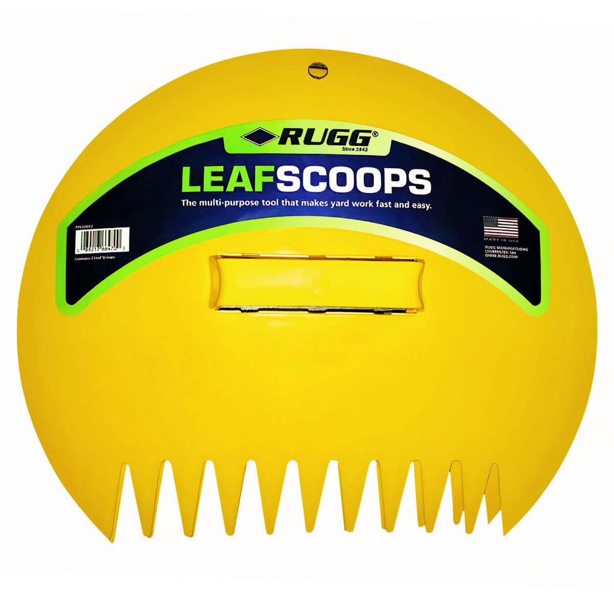 Leaf Scoops, Large Size Hand Rake Claws for Debris & Yard Waste Pick Up, Yellow, (One Pair)