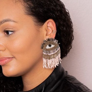 Blush Lash Earrings