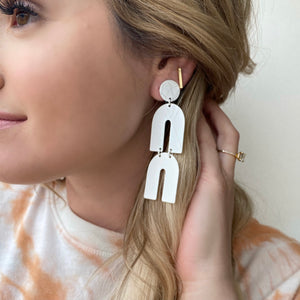 Gelati Earrings - White