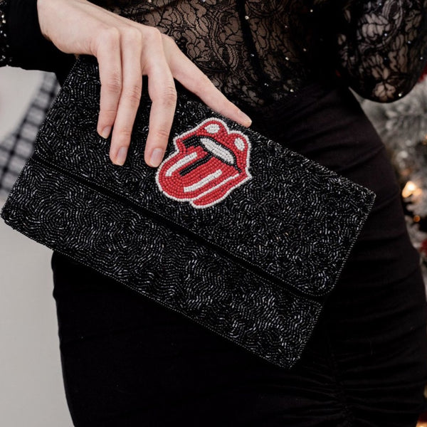 It's Only Rock N Roll Clutch - Black