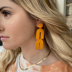 Gelati Earrings -Tangerine