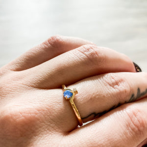 Crystal Drop Opal Ring