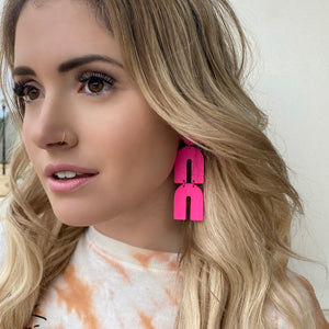 Gelati Earrings - Neon Pink