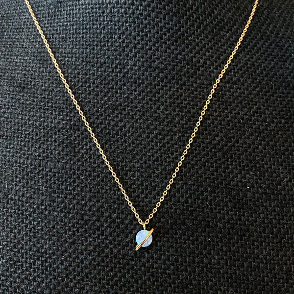 Baby Saturn Necklace