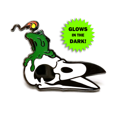 Laughing Crow Candle Co. Enamel Pin (Green Variant)