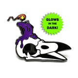 Laughing Crow Candle Co. Enamel Pin (Purple Variant)