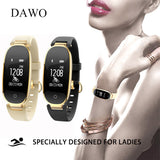 DAWO Smart Bracelet Heart Rate Sleep Tracker Fitness Tracker Smart Fitness Bracelet Smart Wristband Women For Android and IOS
