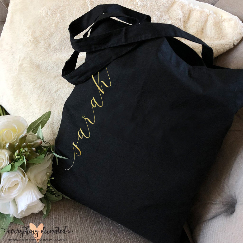Tote Bag - Vertical Text