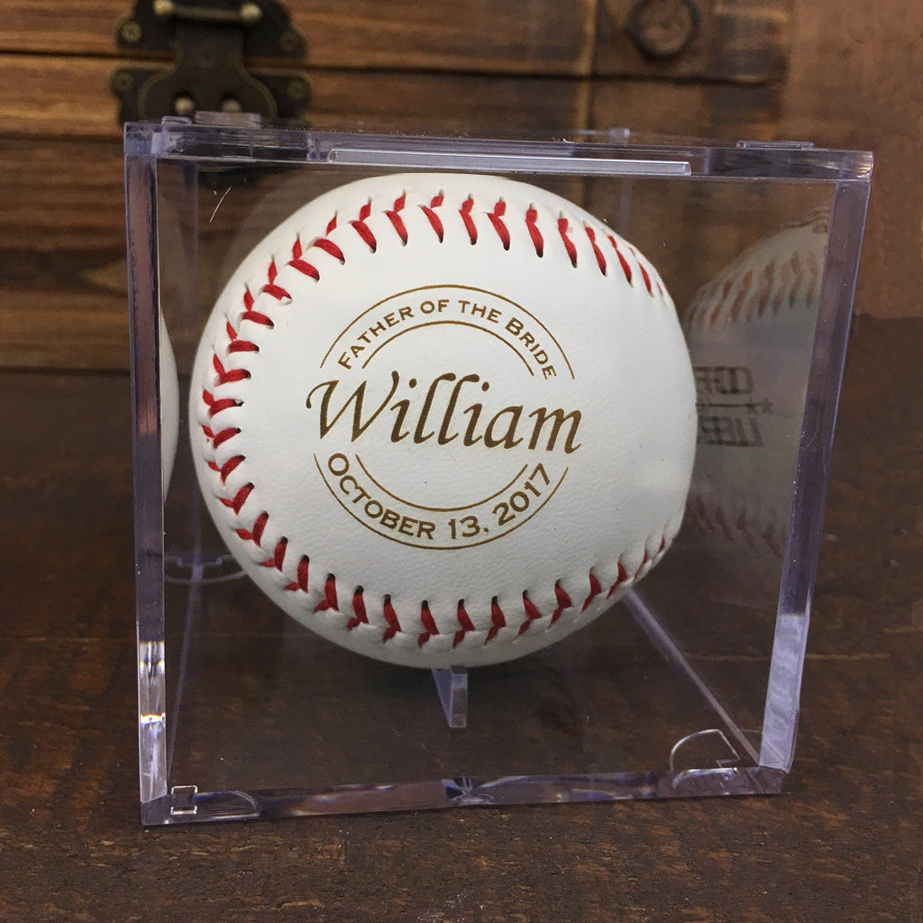 Father of the Bride & Groom Gift - Engraved Baseball