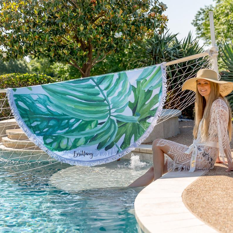 Palm Leaf Towel Beach