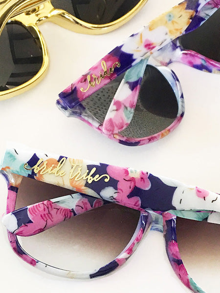 Floral Sunglasses - Bride and Bride Tribe