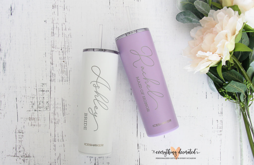 Gift for Bridesmaid - Engraved Tumbler