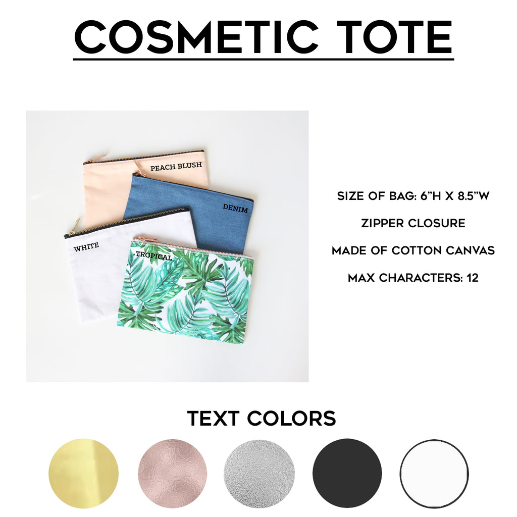 Mrs. Cosmetic Tote