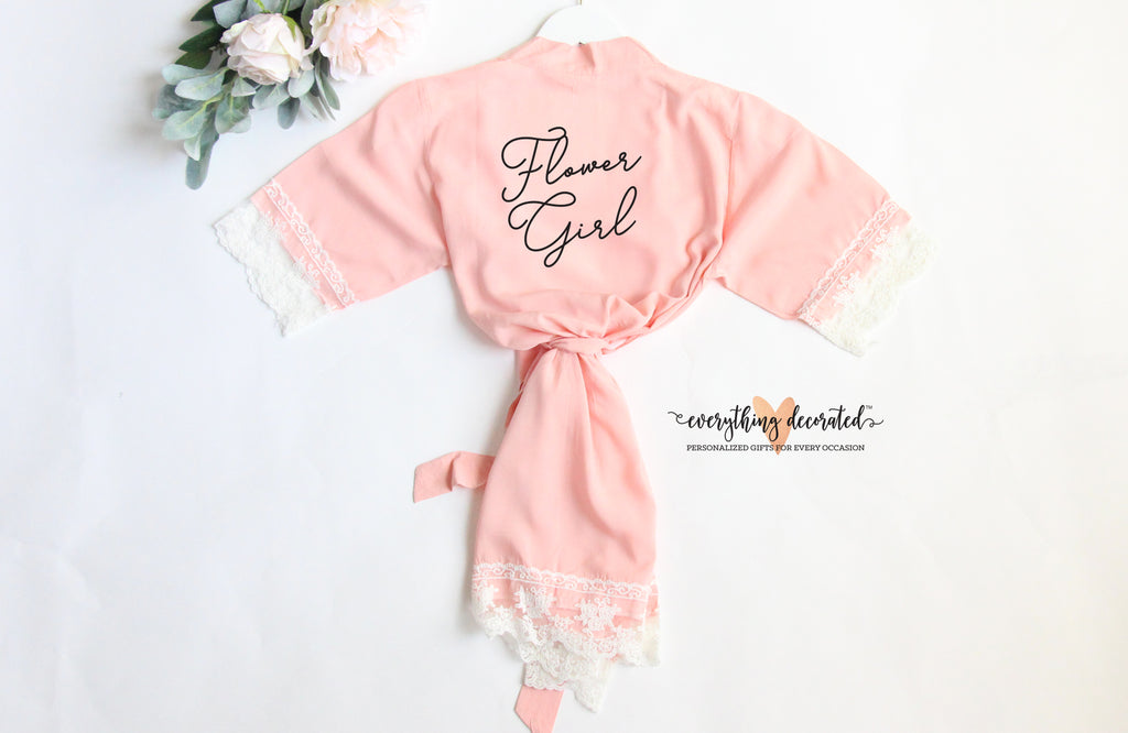 Cotton Lace Flower Girl Robe