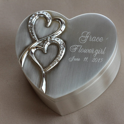 Flower Girl Jewelry Box Personalized