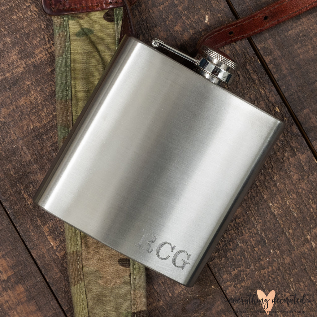 Custom Engraved Flask - Hip Flask