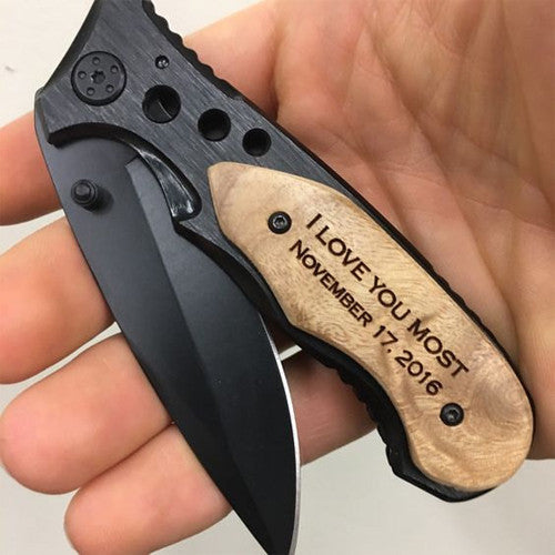 I love you most engraved pocket knife