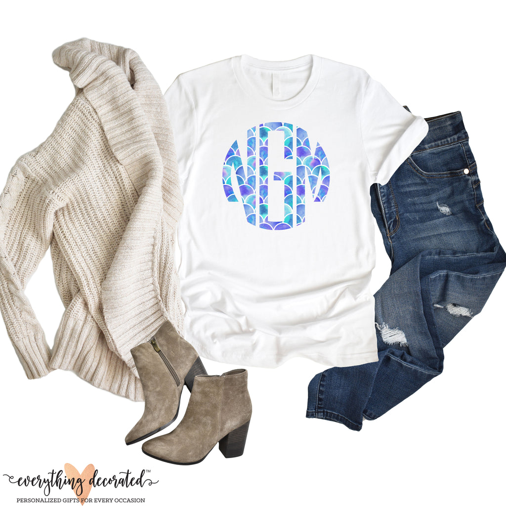 Monogrammed T-Shirt - Mermaid