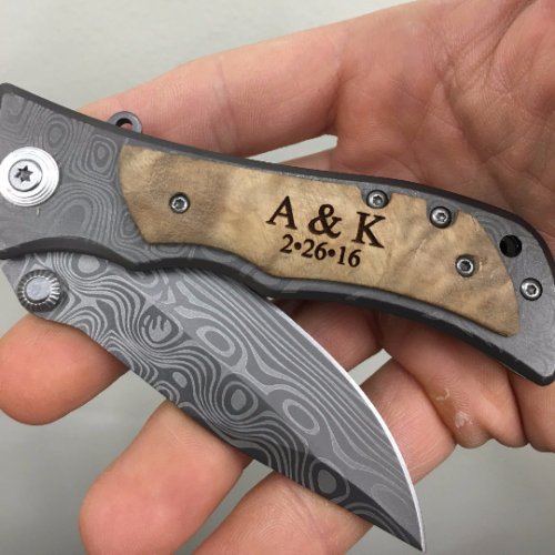 Monogram Pocket Knife Initials and Wedding Date
