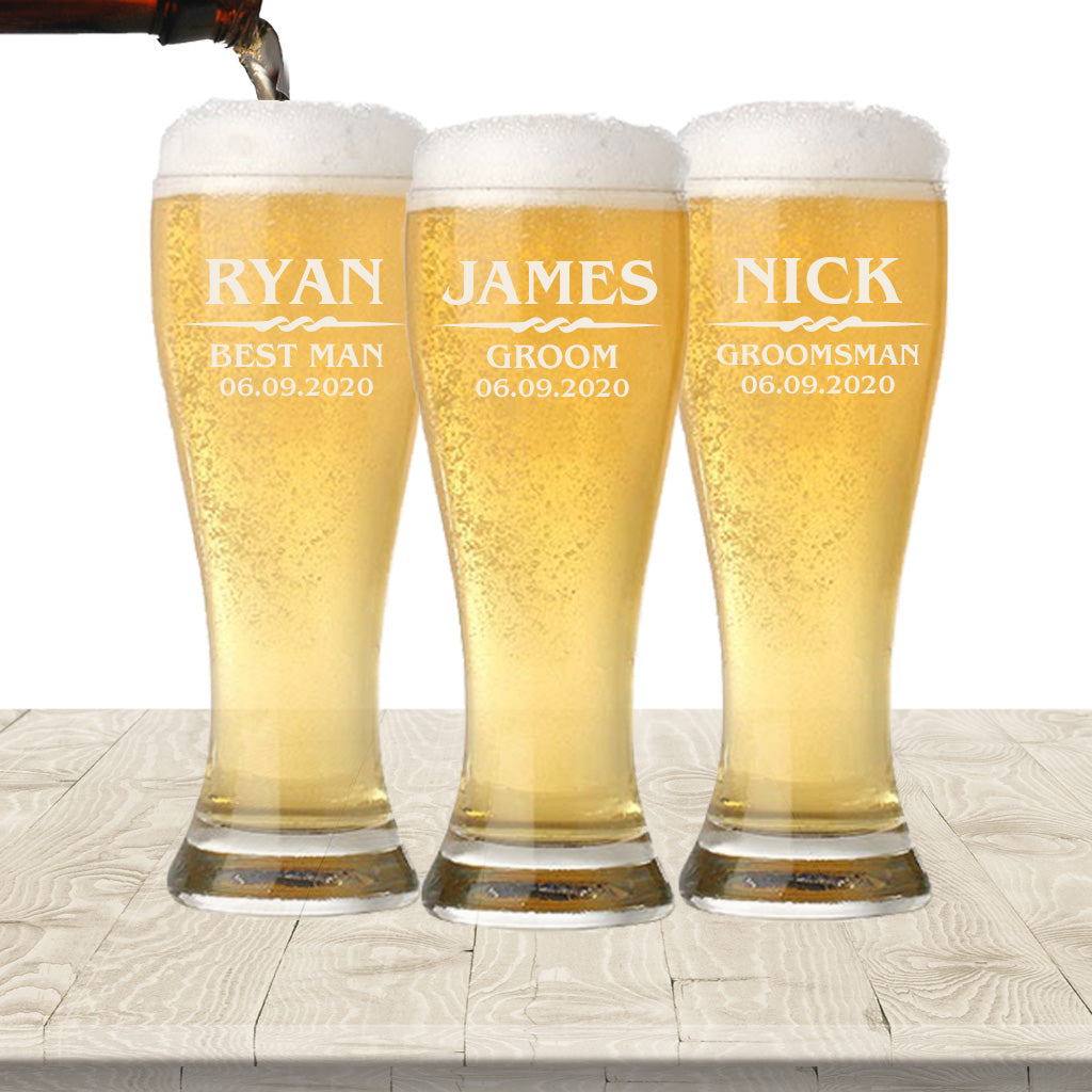 Wedding Favor Pilsner Glasses - 16oz