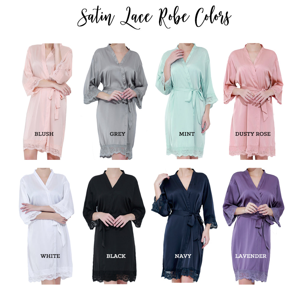 Satin Lace Robe for Mom