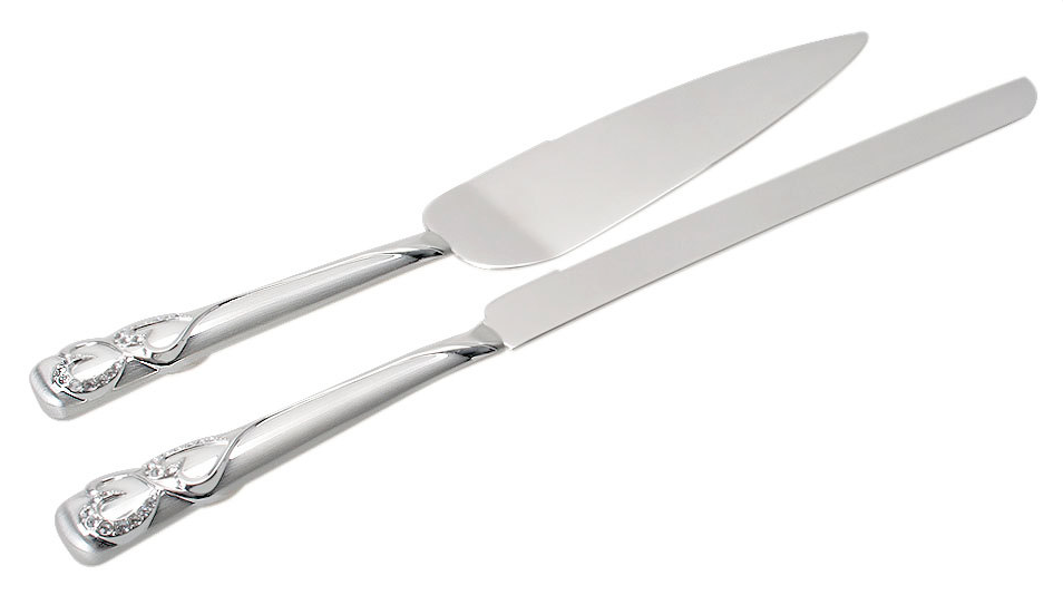 Wedding Cake Knife & Server Set