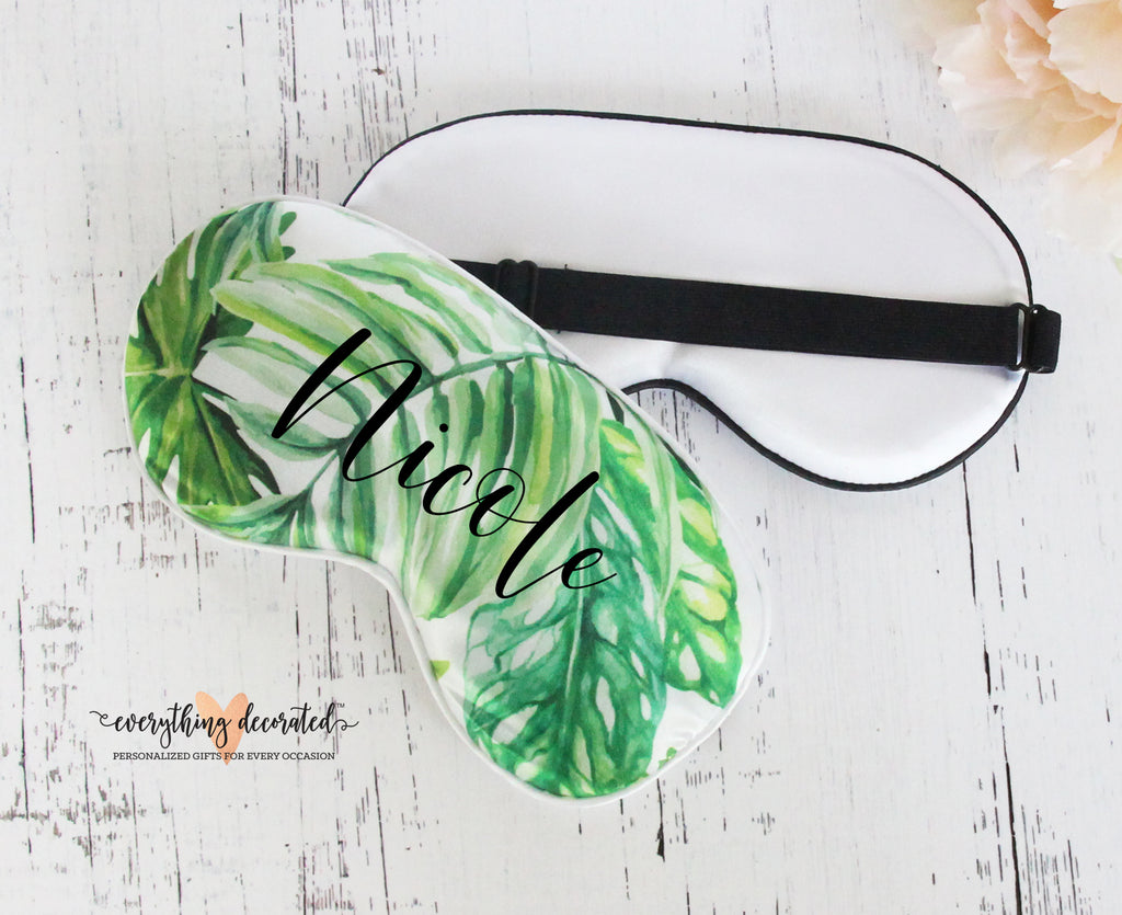 Tropical Palm Leaf Sleep Mask