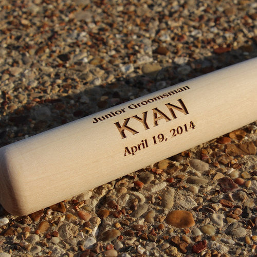 Engraved Mini Baseball Bat Jr. Groomsman Gift