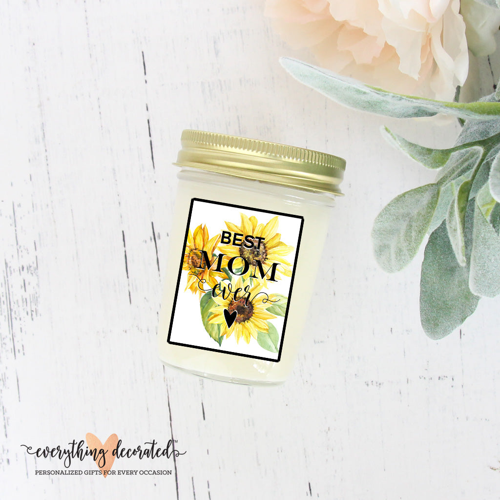 Mason Jar Mom Candle