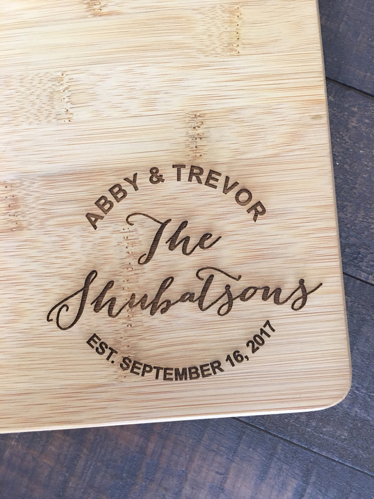 cutting board engraved