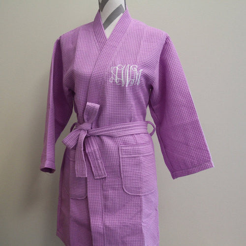 Embroidered Robe Lilac