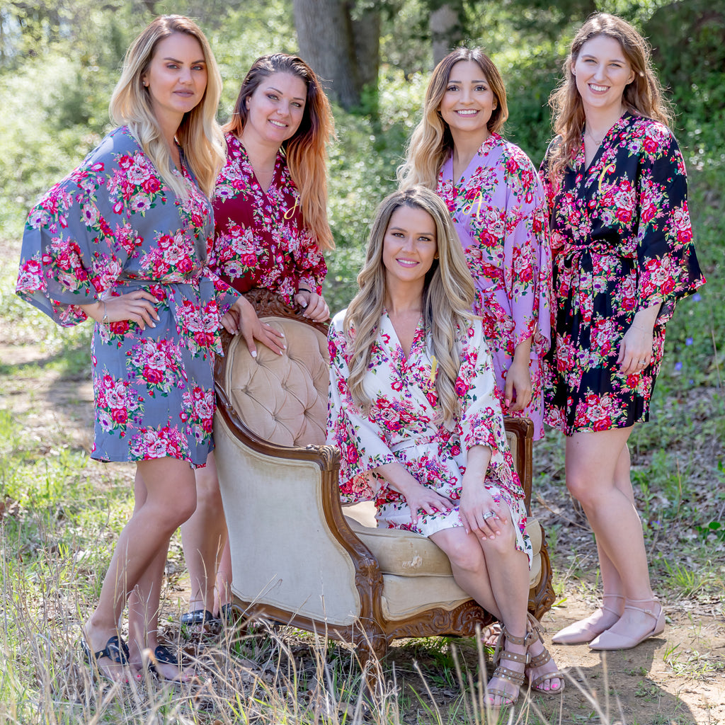 Personalized Floral Bridesmaid Robes Everything Decorated