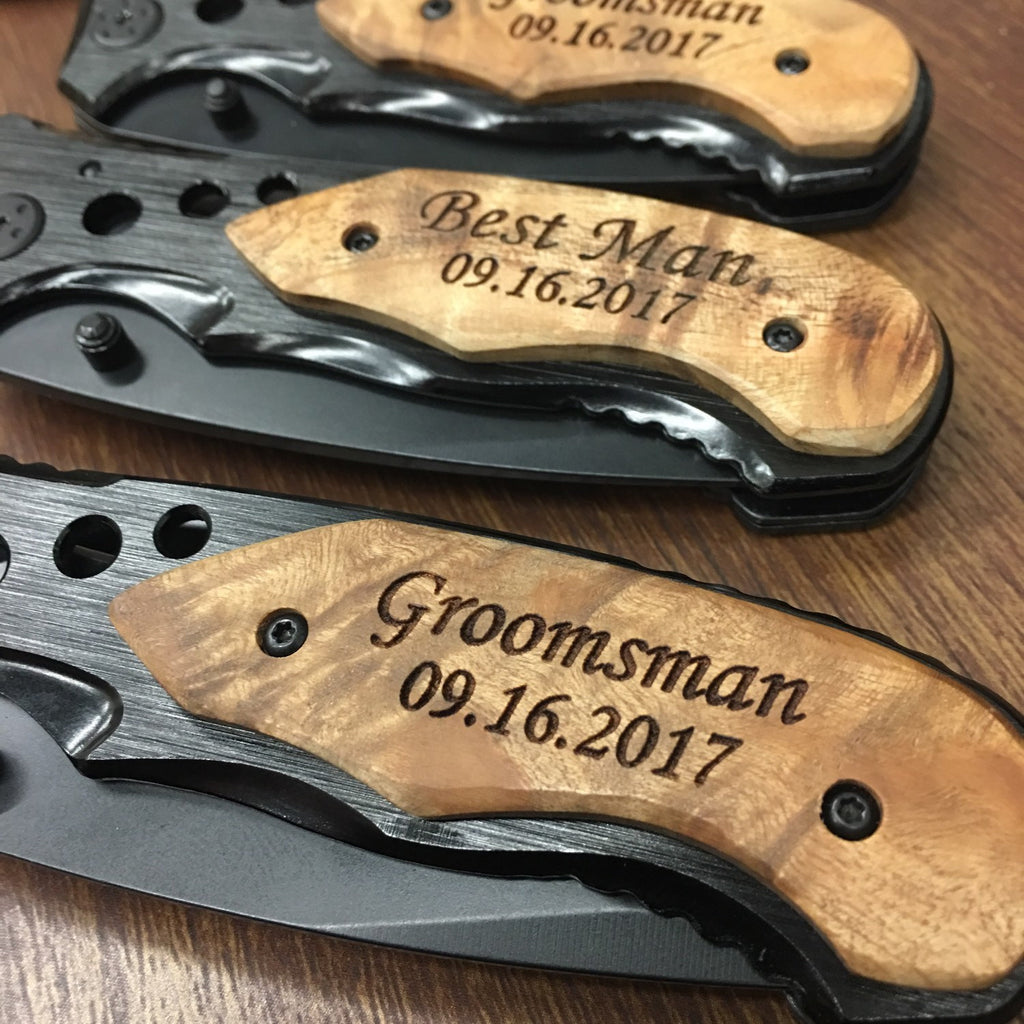 groomsman pocket knife
