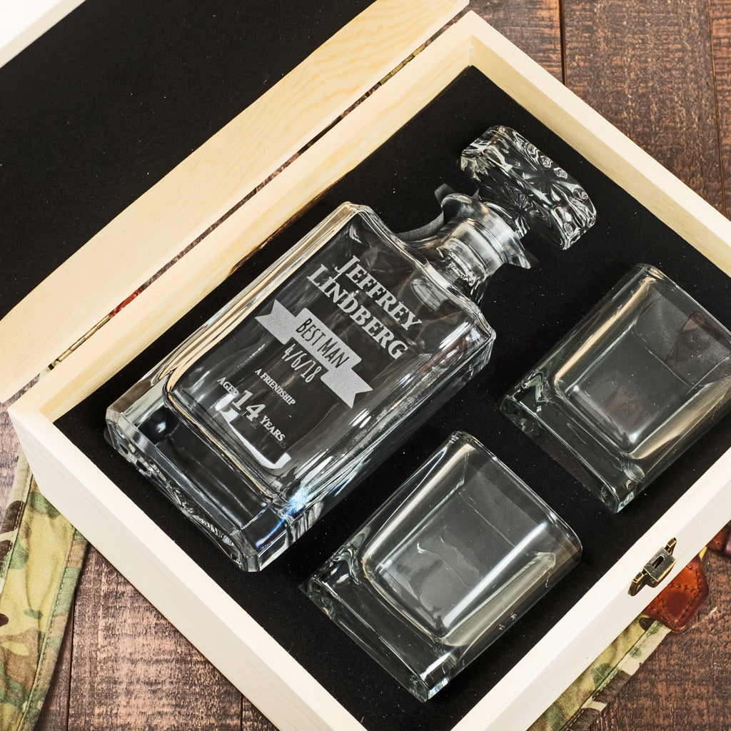 Groomsmen decanter gift set